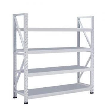 Steel slotted angle light duty rack with MDF shelves