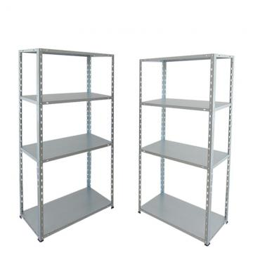 Steel Plate Storage Rack 5 Tiers Metal Rivet Boltless Shelving