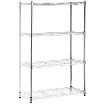 Steel 3 Tier Wire Shelf Corner Storage Shelf Indoor Plant Rack
