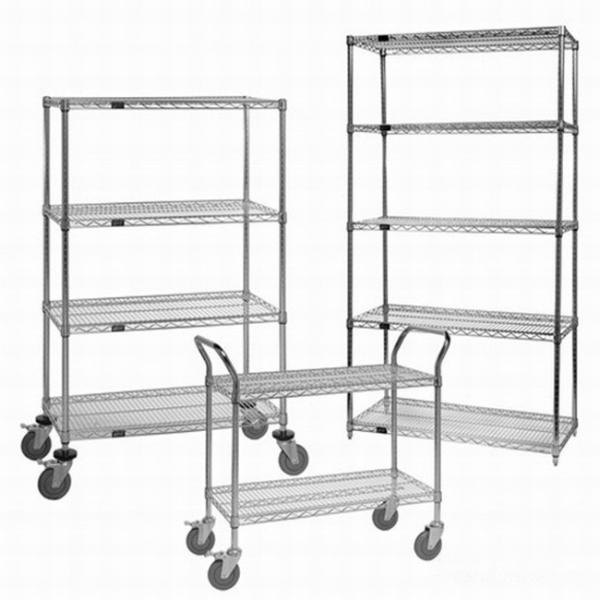 Wire shelving with Adjustable feet lowes stainless steel shelving nsf Powder Coating metal shelving #3 image