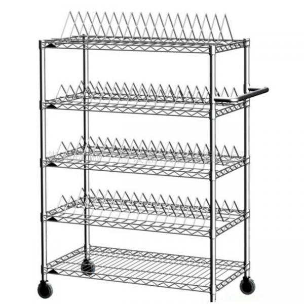4-5layer easy installation wire shelving and metal rack for storage #1 image