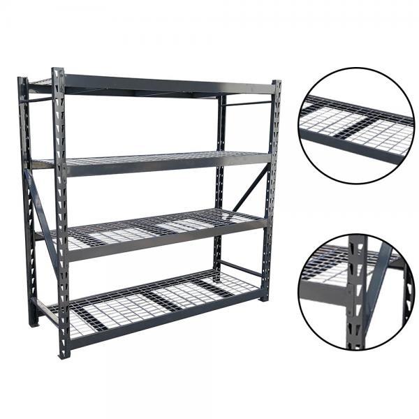 Storage Rack Floor Standing Boltless Shelving Adjustable Utility Shelves for Home, Garage, Warehouse #1 image